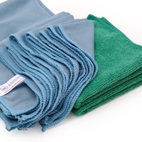 Microfiber Glass Cleaning Cloths - 8 Pack | Lint Free - Streak Free | Quickly and Easily Clean Windows & Mirrors Without Chemica