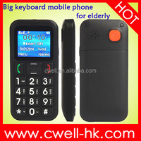 V702 Quad band GSM Unlocked SOS Dual SIM Mobile big sound best cell phone for elderly
