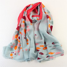 Printed Wool Scarf Fashion Lady Shawl