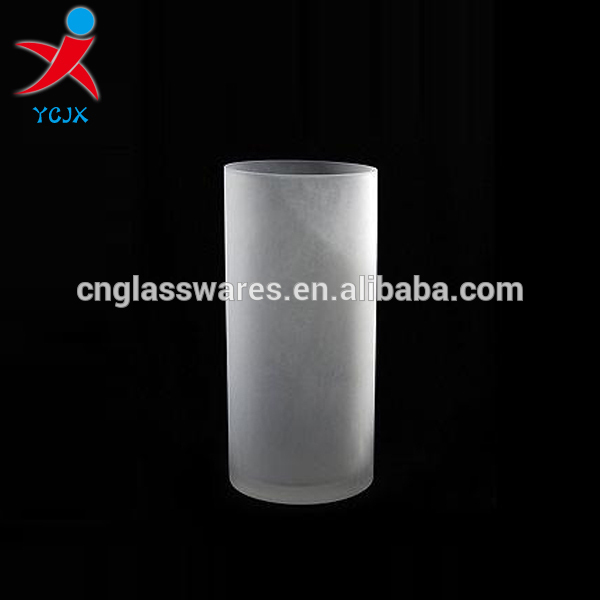 frosted glass cylinder