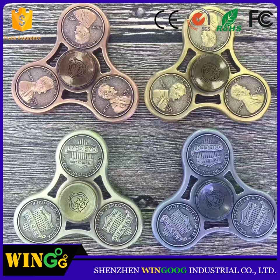 6 US cents spinner hand toy spinner fidget metal 2017
