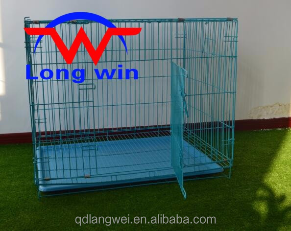 18 Inch Metal Pet Cage Dog Cat Puppy Training Folding Animal Transport Crate