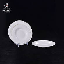 Factory wholesale bulk white porcelain ceramic soup plates for restaurants