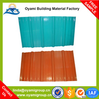 Alibaba china building materials 2 layers heat insulation weatherproof upvc roof tile for industrial warehosue