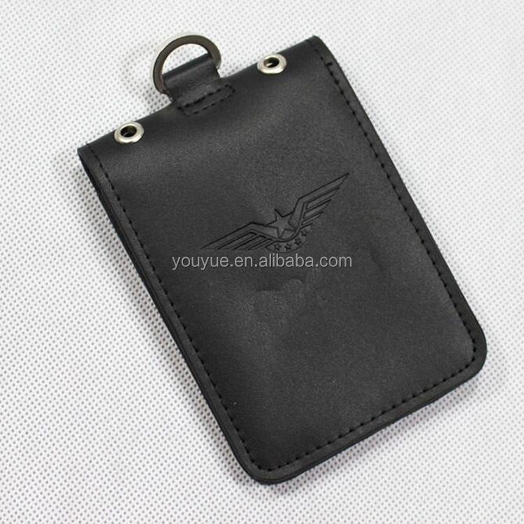 leather police IC card holders with 2 slots