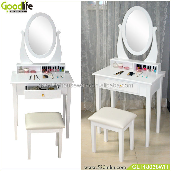 Classic White Vanity Dressing Table with mirror for UK