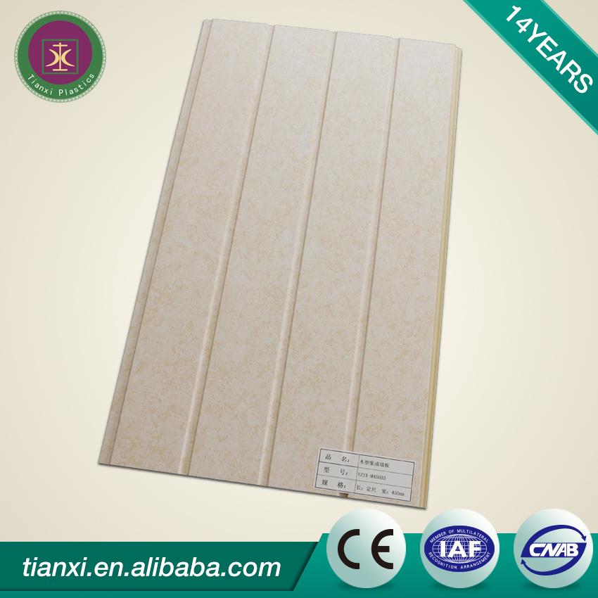 hot sale new style ready made price pvc wall panel