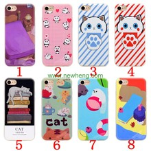 Wholesale Cute Cartoon Sublimation Imd Printing TPU Soft phone case for iphone 7