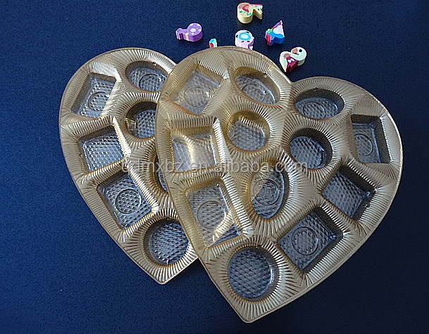 semi - gloden plastic soft candy insert food packaging tray for chocolate box