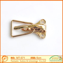 air plane metal gold buckle for garment decoration