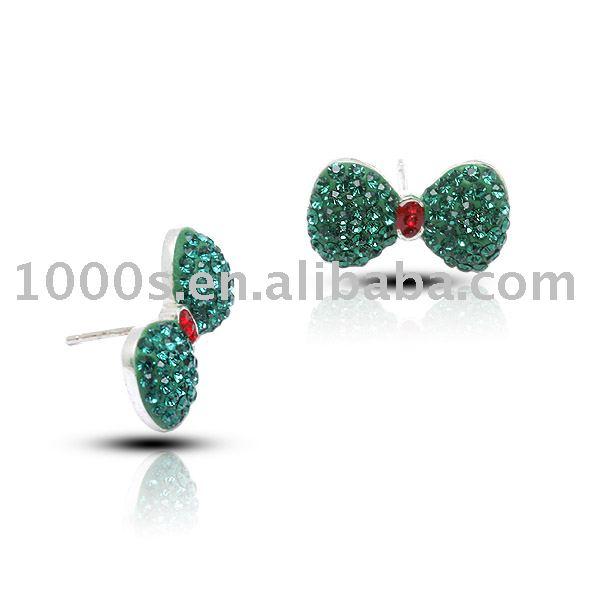 2013 China Wholesale Fashion crystal Jewellery silver Cheap Stub Earrings
