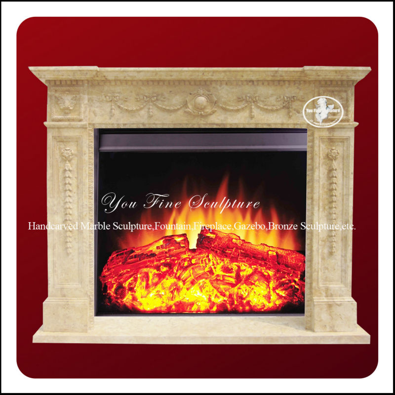 Yellow Hot Sale Granite Cheap Fireplaces Surrounds