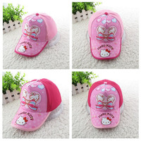 52-54CM (GH6022#)New Hats For Children Cartoon Hello Kitty Baseball Caps Baby Hat Casual Outdoor Caps