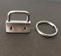 Cheap price 1 inch Silver Color Key Fob Hardware For Keychain From China
