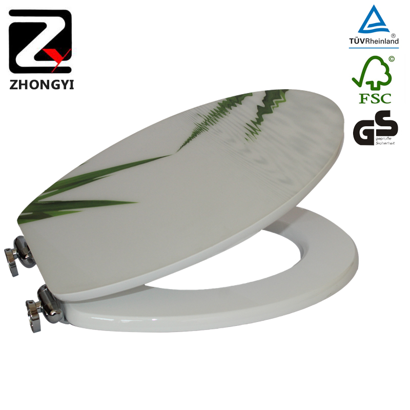 Leaves mdf printing toilet seat price