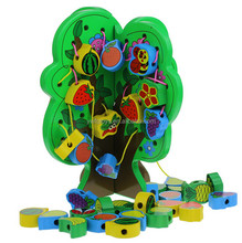 FQ brand Chinese Toy Manufactures Wholesale Baby Toys Wooden Beads Toy Wisdom Tree