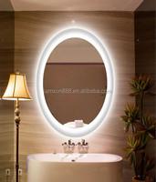 Elegant oval design bathroom LED lighting heated mirror for Spain market