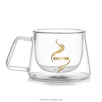 Guangzhou facotory heat resistant glass coffee cup beautiful coffee cupsglass expresso cups