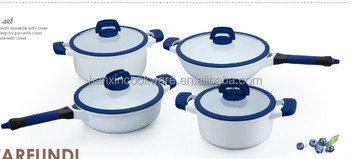 stone non-stick induction cookware with silicone lid