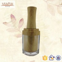 diamond 10ml with bamboo cap custom print Empty Nail Polish Bottles Manufacturers