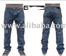High quality brand men's denim jeans blue,accept paypal