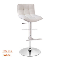 bs536 high white fabric Bar stools