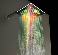 300mm super thin 8mm hydro power eco spa led shower head led