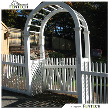 Made in China Fentech high Standard Elegant White Color Cheap House Fencing Gate