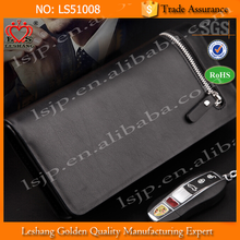 2015 hot selling men fabric magic wallet with passport wallet and credit card