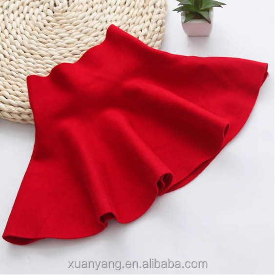 New Design Plain Color in Black And Red Soft Textile Children or Kid's Skirt Wear in Daily Life