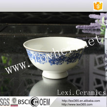 Hot-selling 5inch Round Shape Ice Cream Bowl Dessert Serving Bowl China Blue Flower Design For Shop,Home,Hoel, Restaurant