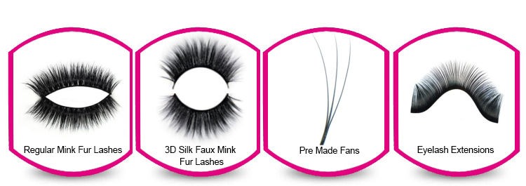 Good quality 100% handmade comfortable and soft volume fans lashes for cosmetics