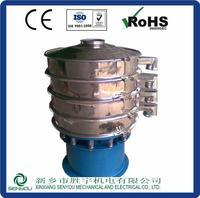 China high sieving precision stainless steel round vibrating screen machine for resin powder
