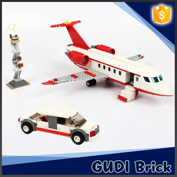 Newest intelligence 334pcs airport building block toy for children