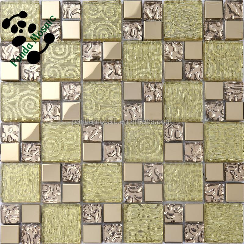 . SMJ06 Handmade wall decorate mosaic gold ceramic mosaic tile decorative  ceramic wall tiles  View decorative ceramic wall tiles   Panda mosaic  Product