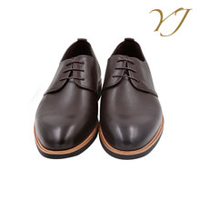 OEM orders acceptable vulcanized rubber sole police brown shoes men oxford shoes