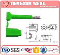 Container security aluminum window seal strip