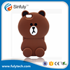 Brown bear 3D cartoon silicone mobile phone cases for iphone 6 6plus 7 7plus silicon covers