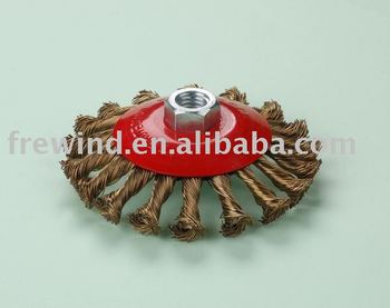 Brass wire,bevel brush with nut,Made In China