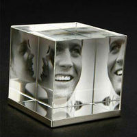Hot Sales New Arrival Character Can Insert Three Picture Crystal Photo Frame