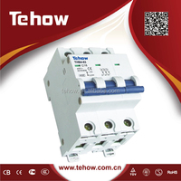 1p 2p 3p 4p 1p+N 3p+N 63a electric miniature circuit breaker short circuit and overload protection