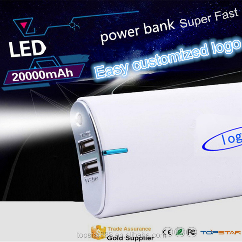 Super Fast Mobile Phone Charger ,Easy Customized Logo Battery Charger 8000mAh,20000mAh Mobile Supply