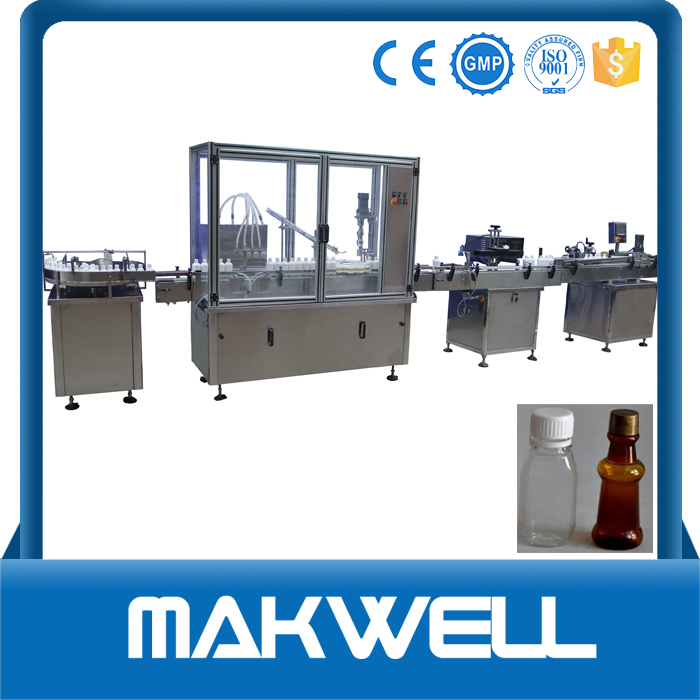 china top ten small bottle filling plugging capping machine for normal saline filling machine made in China