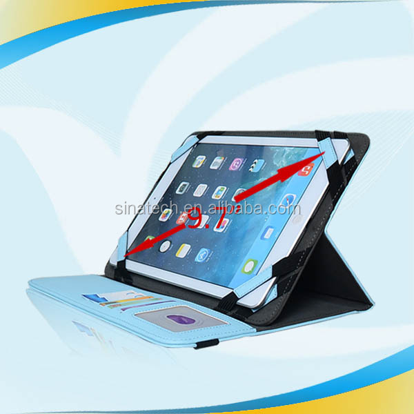 "New arrival! Fashion 9"" universal tablet case with elastic band,leather cover case for amazon kindle fire hdx 8.9"