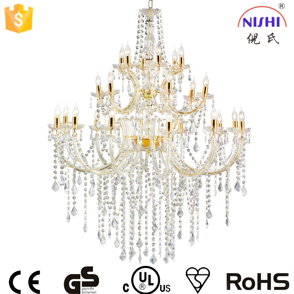 big size fancy wedding decorative hanging chandelier&pendant lights with UL approval NS-120230