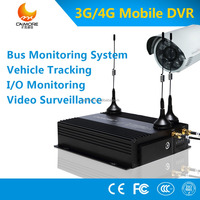 4g 1080P car dvr 4 channel security digital video recorder mobile nvr