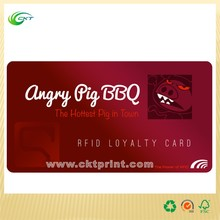 CMYK printing pvc magnetic loyalty VIP membership cards printing with costum