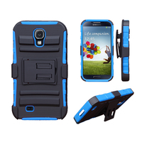 Wholesale Outdoor Waterproof PC + TPU 3 in 1 Super Combo Black with Back Clip Funky Mobile Phone Case for Samsung Galaxy S4