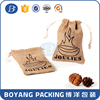 Custom handmade small drawstring jute bag