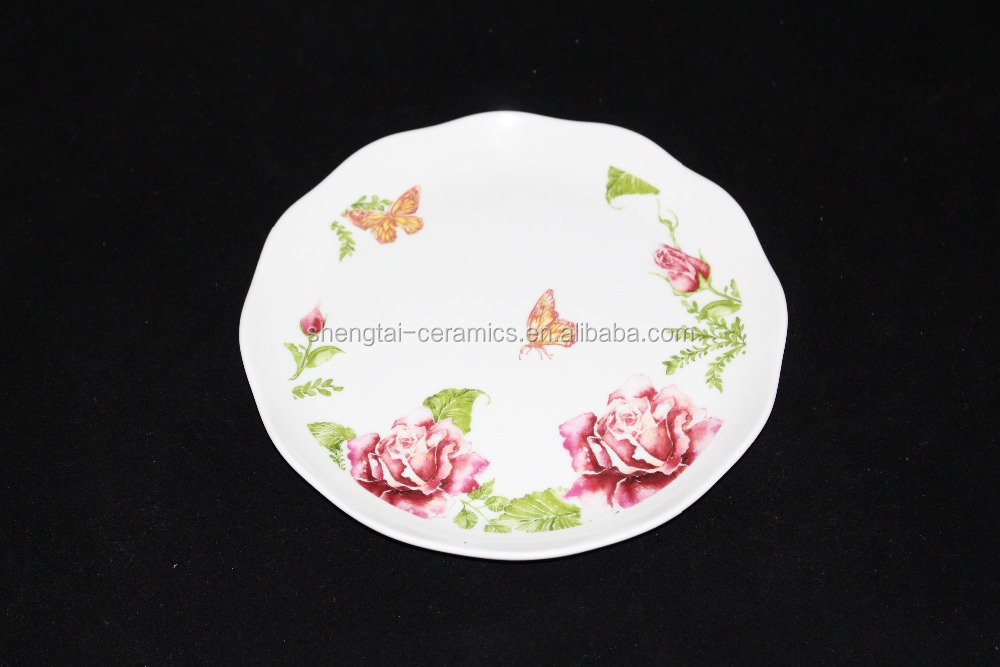 Wholesale dinner plate ceramic dessert dish